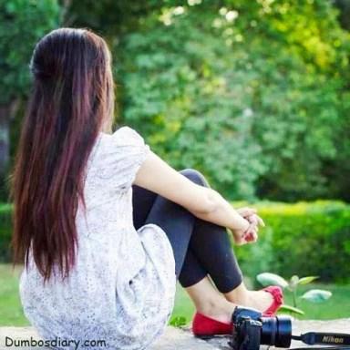 White dress girl dp