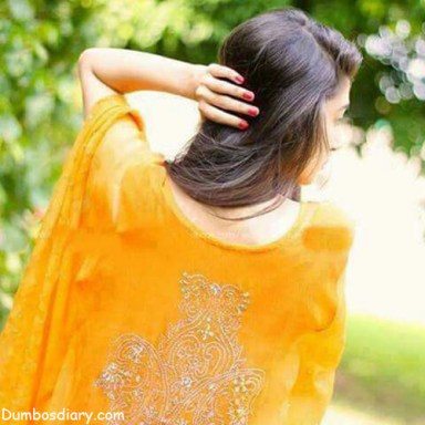 Yellow dress beautiful girl dp