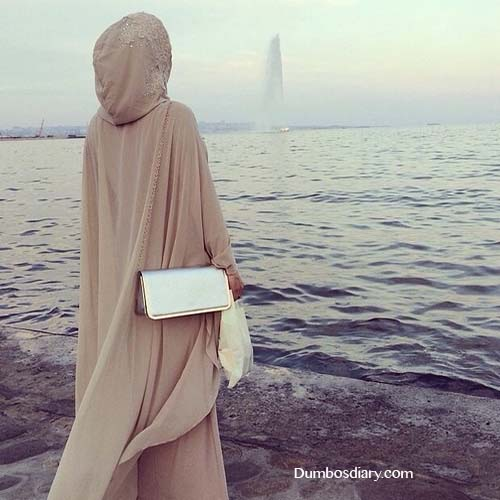 beautiful arab girl on beach