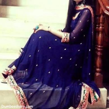 girl in blue frock dp
