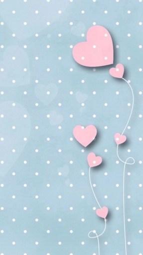 polka pink hearts whatsapp wallpaper