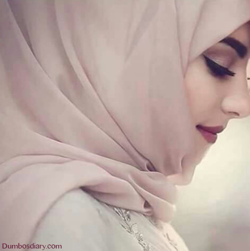 pretty hijabi muslim girl dp