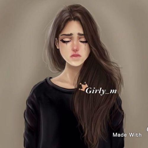 alone girl crying closeup
