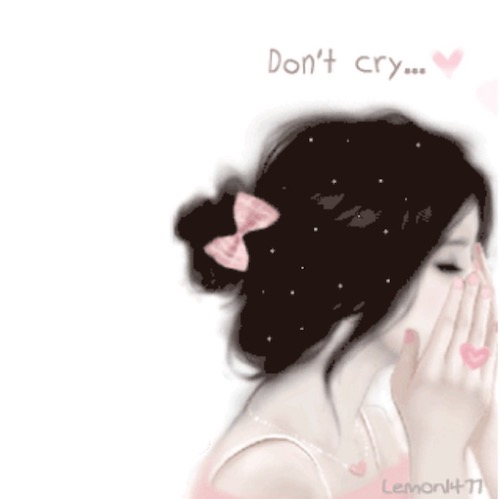 alone girl crying