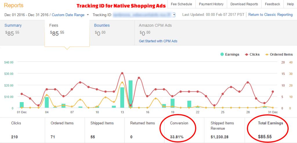 Amazon Earnings December 2016 - Native Shopping Ads