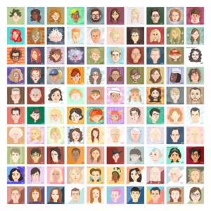 100 Days of 15 Faces by Courtney Macca