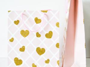 FUNDA REGALO GOLD HEARTS