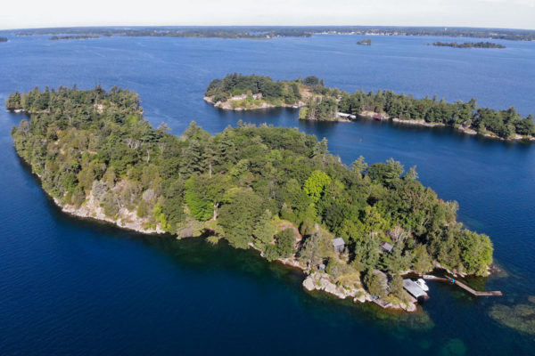Dumfounder Island for sale - view from the air