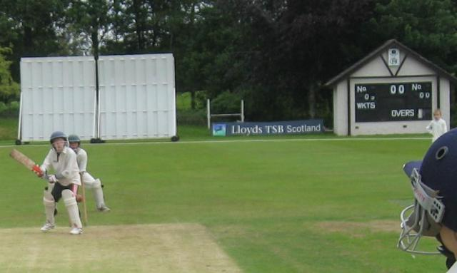 Dumfries Dynamos batting v Nunholm United