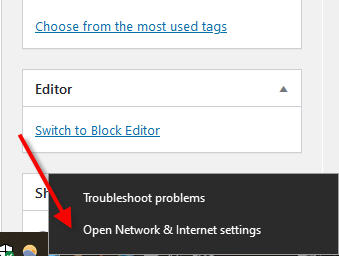 forget network in windows 10 network icon