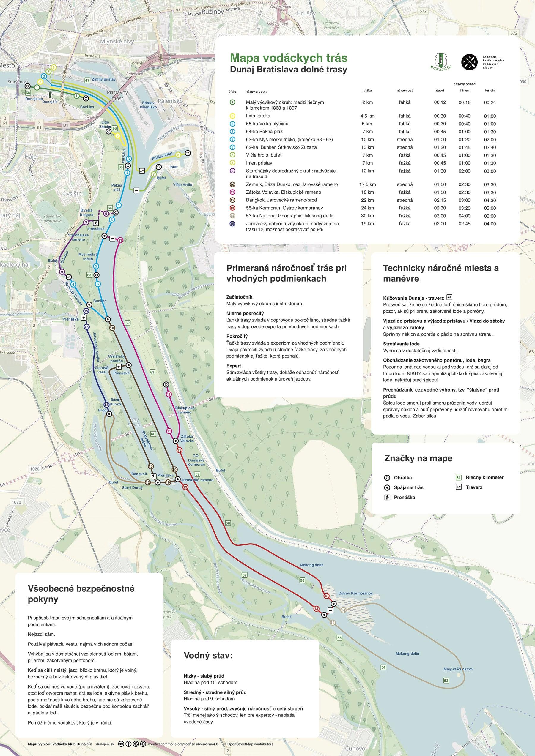Mapa vodackych tras