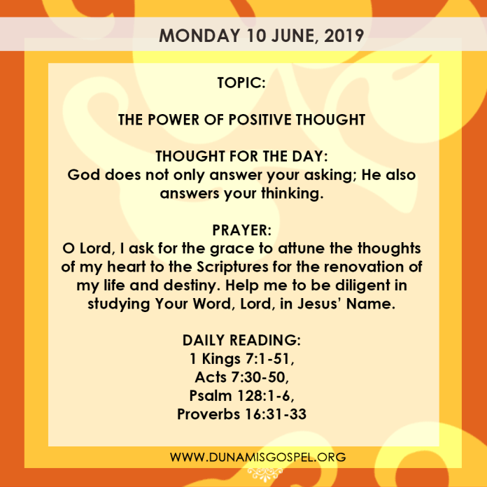 Seeds of Destiny 10 June, Seeds of Destiny 10 June 2019 – The Power of Positive Thought