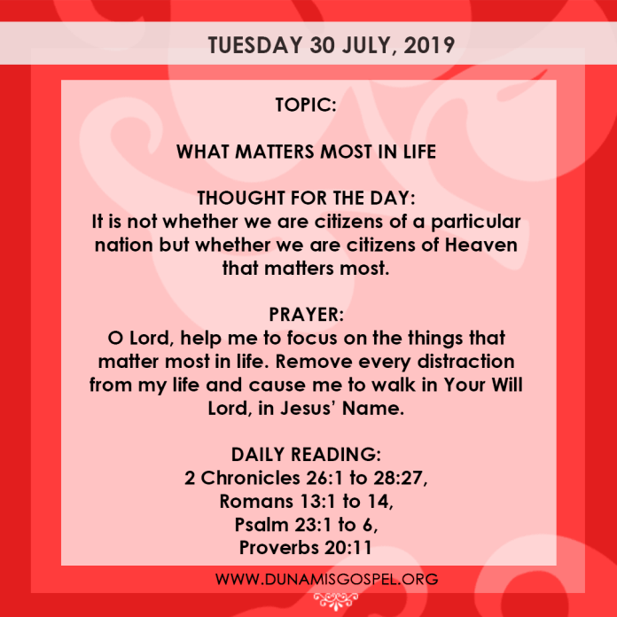 Seeds of Destiny 30 July 2019, Seeds of Destiny 30 July 2019 – What Matters Most In Life