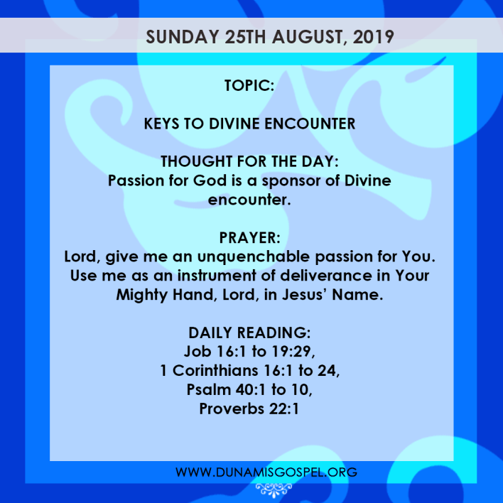 Seeds of Destiny 25 August 2019, Seeds of Destiny 25 August 2019 – Keys To Divine Encounter
