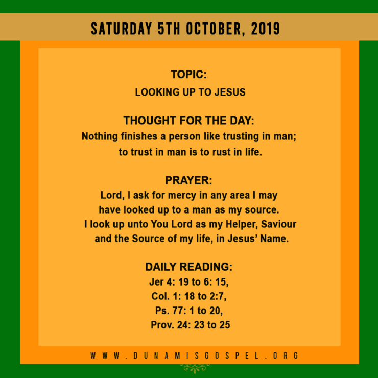 Seeds of Destiny 05 October 2019, Seeds of Destiny 05 October 2019 – Looking Up To Jesus