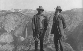John Muir and Theodore Roosevelt, 1903. Library of Congress