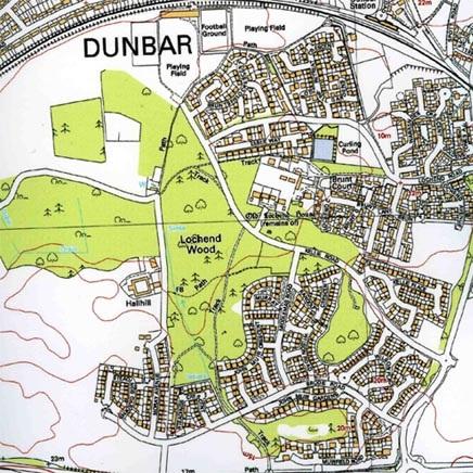 Map of Lochend Woods (around 2003)