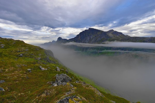 Ascent of Barden, Island of Senja, Troms og Finnmark, Norway - ...behind every picture, there is a story...