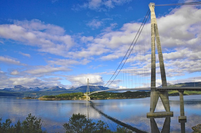 Halogaland Bridge on road E6, north of Narvik, Norland County, Norway