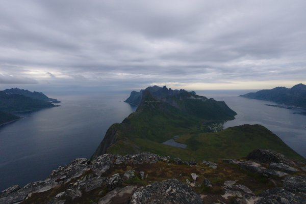 Mefjorden (left) and Øyfjorden (right) from Barden (659m), Isle of Senja, Troms og Finnmark, Norway - ...behind every picture, there is a story...
