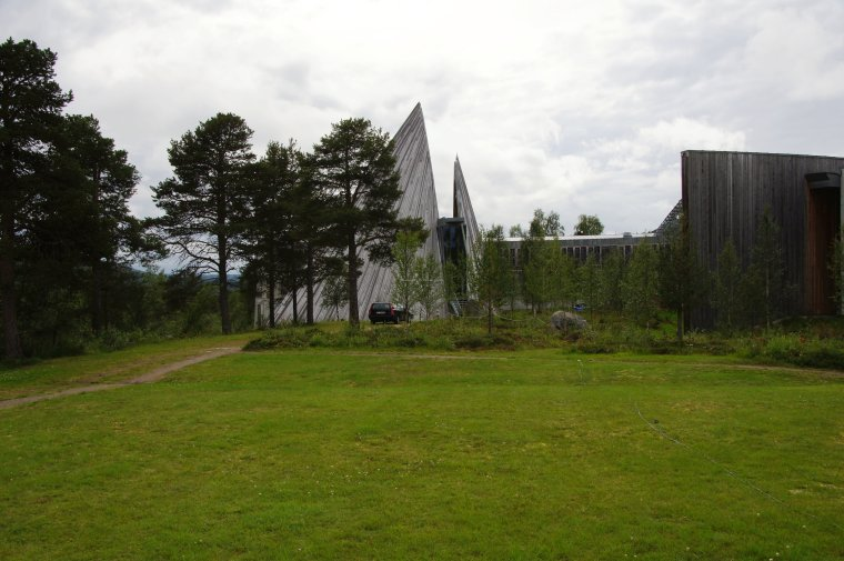 Sami Parliament Building at village of Karasjohka, Troms og Finnmark, Norway - ...behind every picture, there is a story...