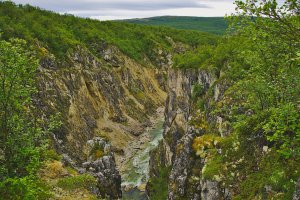 Silfar Canyon, between Lakselv and Kunes, Troms og Finnmark, Norway - ...behind every picture, there is a story...