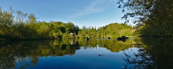 Lakeside Bar, Raygill Lakes, Lothersdale, North Yorkshire, England