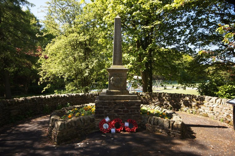 Lothersdale war memorial, Craven, North Yorkshire, England - ...behind every picture, there is a story...