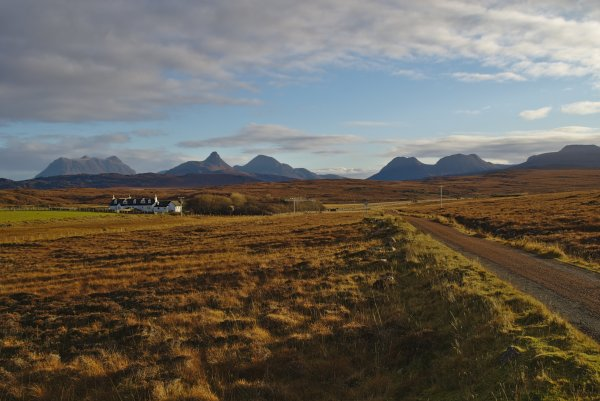 Mountains of Assynt in Sutherland, North West Coast Scotland