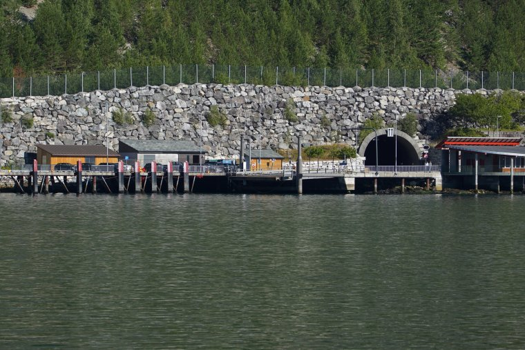 Amla tunnel entrance from the Laerdal to Sogndal ferry on Sognefjord - ...behind every picture, there is a story...