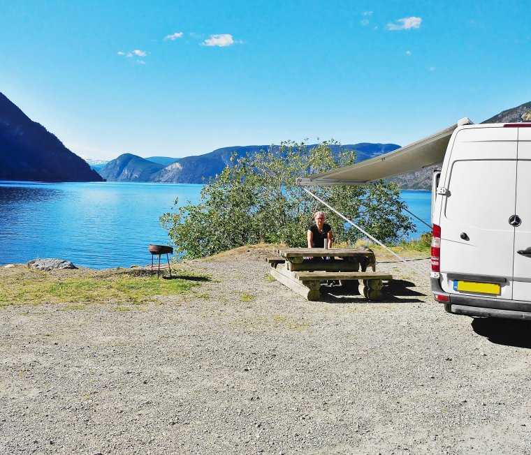 Laerdalsfjorden, near Laerdal, Vestland County, Norway - ...behind every picture, there is a story...