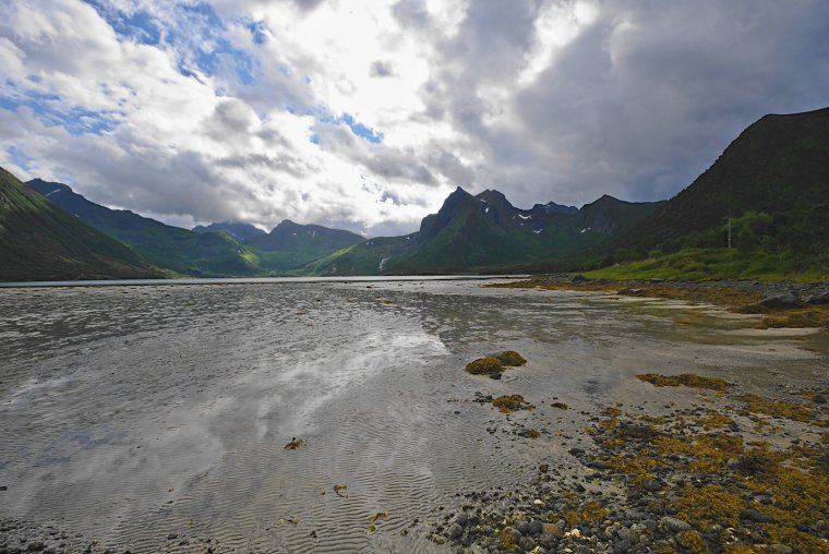 Morfjord from Sommarhus, Austvagoya island, Lofoten Archipelago, Norland County, Norway - ...behind every picture, there is a story...