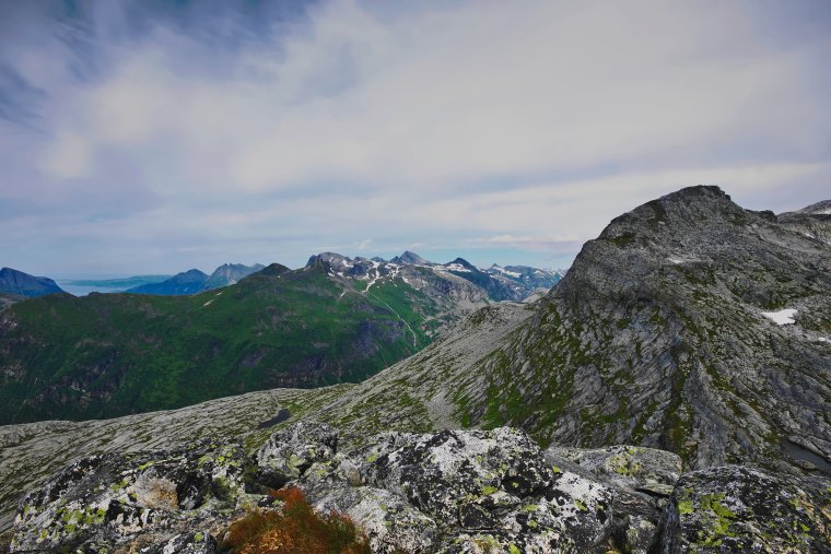 Summit of Smaltinden (782m) looking northeast, Norland County, Norway - ...behind every picture, there is a story...