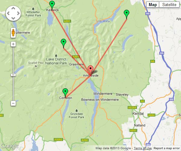 Google Maps API - polylines and distances