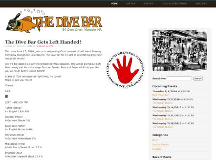 The Dive Bar Website