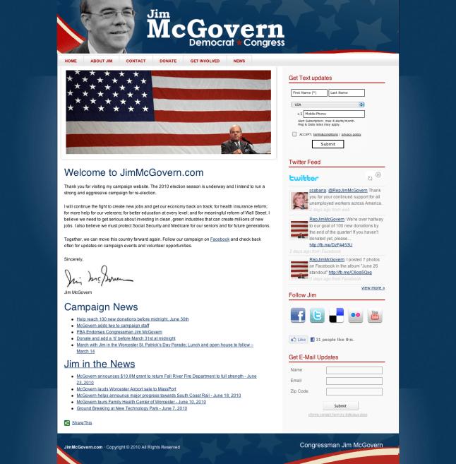 Jim McGovern Website