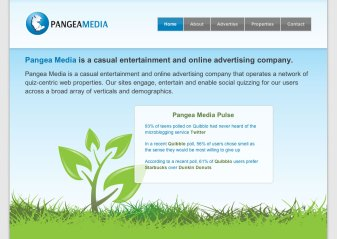 Pangea Media Corporate Website V1
