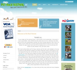 Pet Rock Festival Website Design V3
