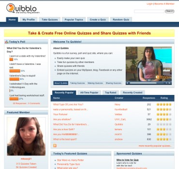 Quibblo Website Design