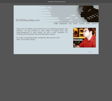 Roger Lavallee Website Design