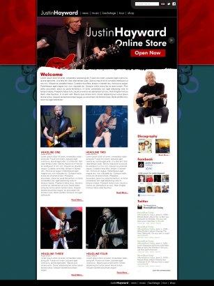 Justin Hayward website design by Duncan Arsenault