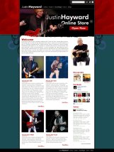 Justin Hayward website design by Duncan Arsenault