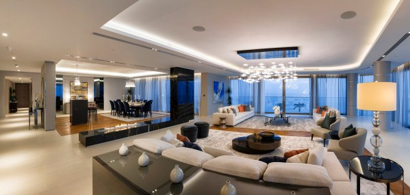 Panoramic interior photograph of the W Residential Apartment by photographer Duncan Chard