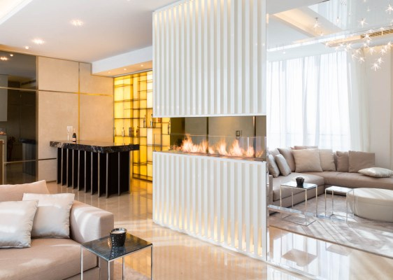 Living room of a private apartment designed by Bishop Design