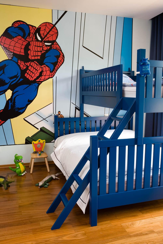 Interior design detailing of a children's bedroom, Arabian Ranches, Dubai