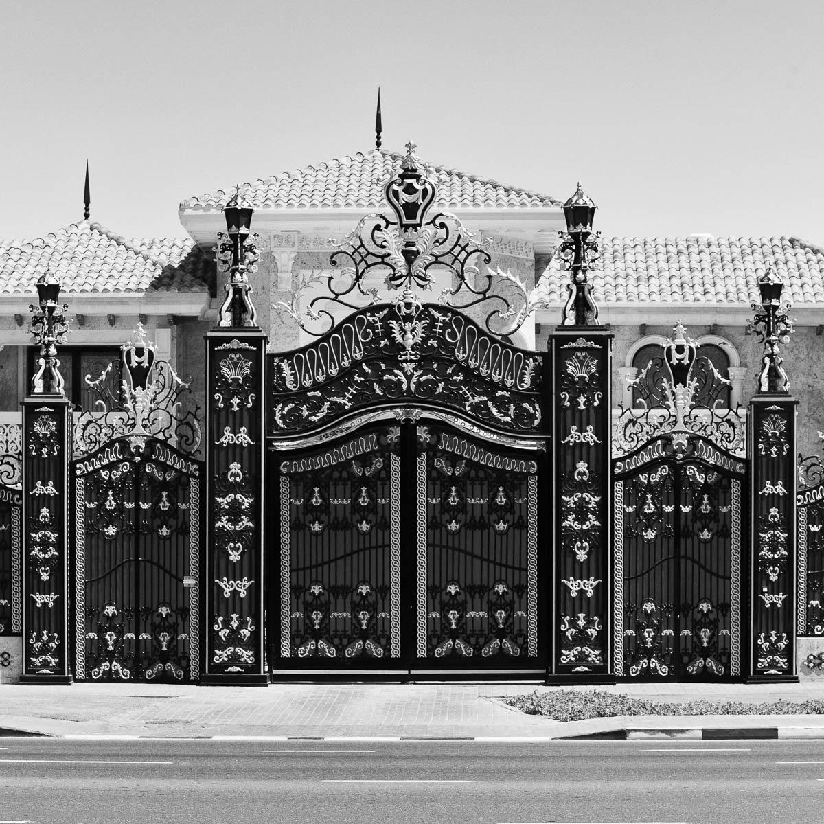 Gates to a private villa in Dubai, UAE