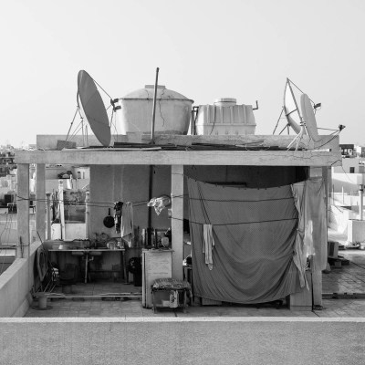 A photograph of a rooftop apartment in Bur Dubai by photographer Duncan Chard