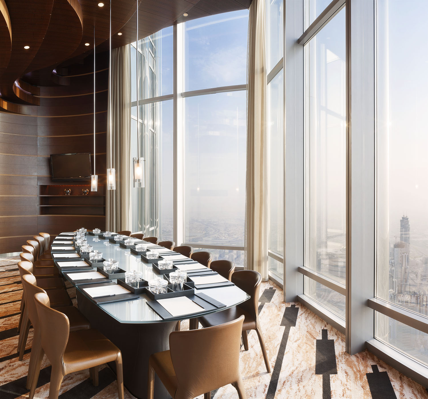 The Armani Hotel meeting room in the Burj Khalifa, Dubai