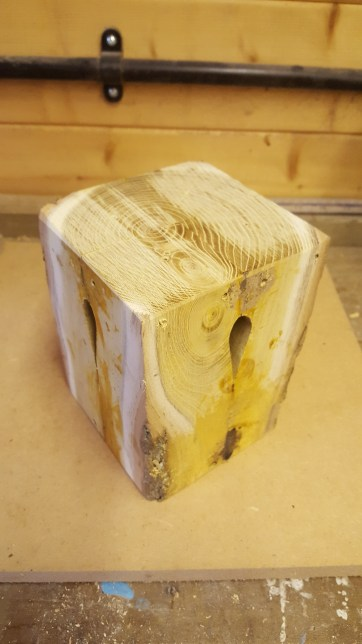 10. You should now have a reconstructed log with hollow inside.