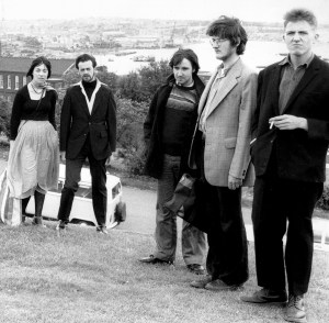 The Medway Poets circa 1979: Miriam Carney, Bill Lewis, Sexton Ming, Charles Thomson, Billy Childish, (Rob Earl absent)